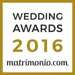 Vincitore Wedding Awards 2016 matrimonio.com